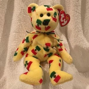 🇲🇽 TY Beanie Baby - PINATA Bear w/ Mexican flag